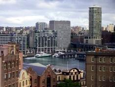 Blick von den Sydney Docks