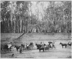 Der Murray River bei Riversdale 1914