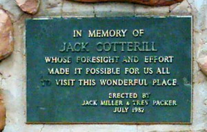 Gedenktafel für Jack Cotterill - Kings Canyon