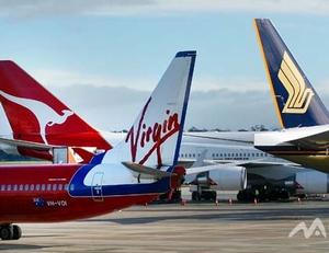 Im Nordwesten von Melbourne liegt der Flughafen